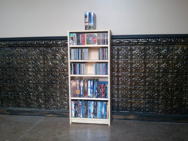 "24""W x 40""H CD/DVD Bookcase"