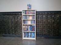 "30""W x 40""H CD/DVD Bookcase"