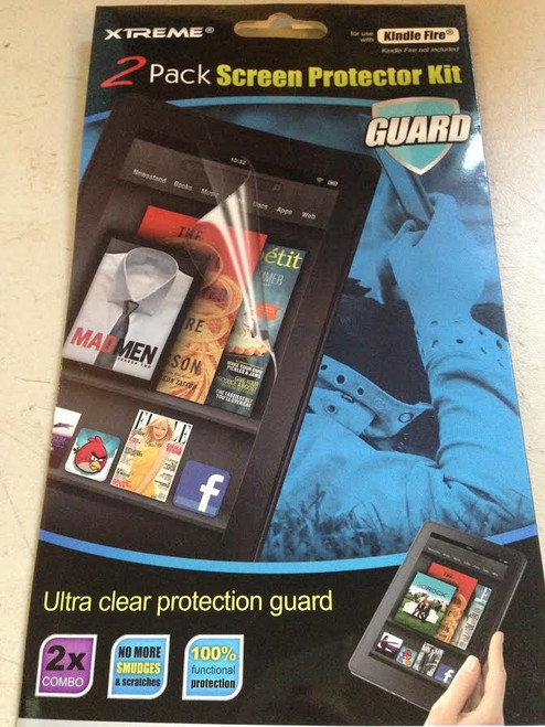 xTREME 2 Pack Screen Protector Kit For Kindle Fire