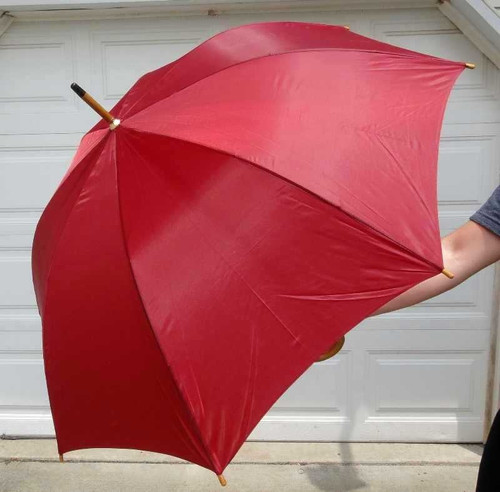 "Executive 47"" Automatic Wooden Shaft 47"" Umbrellas, Opens To A Full 47"")"