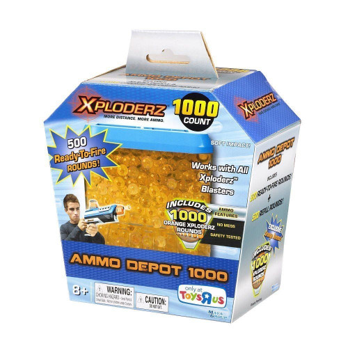 Xploderz 1000 Pack Orange Depot 500 Ready to Fire + 500 Refill Rounds