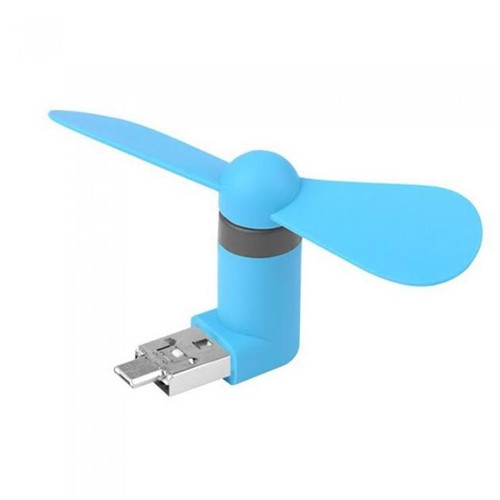 2in1 android Micro-USB portable cooling cooler fans/fan- blue