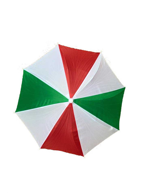 Headwear Umbrella Hat (Red-White-Green) (RWG) Beach Sun Rain Fishing Camping Hunting 1