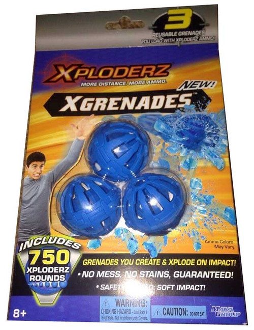 New MayaGroup Xploderz Xgrenades 3 Reusable Grenades w/750 Xploderz Rounds