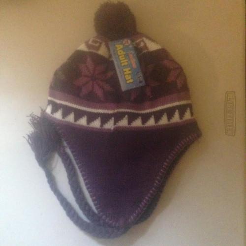 Ladies/Men Unisex Adult Hat PURPLE PERU DESIGN