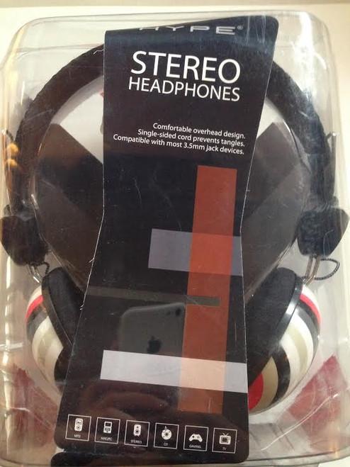 Hype Stereo Headphones STRIPE DESIGN