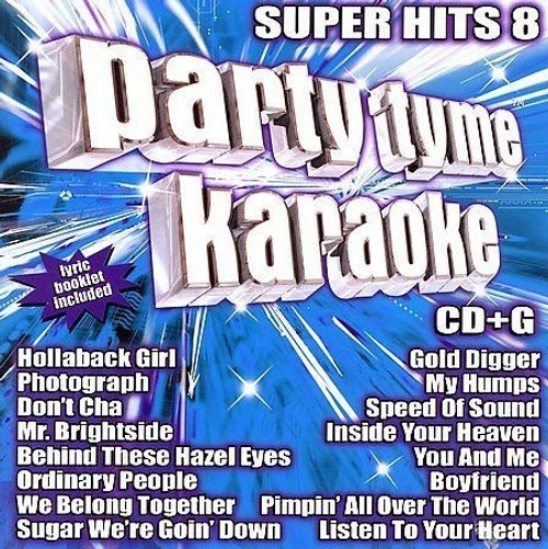 Party Tyme Karaoke: Super Hits, Vol. 8 Nickelback, The Killers, Kelly Clarkson CD