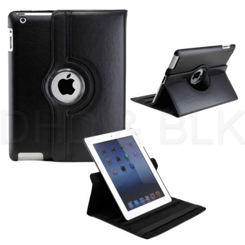 Delton Swivel Folio Case for iPad2/new iPad BLACK