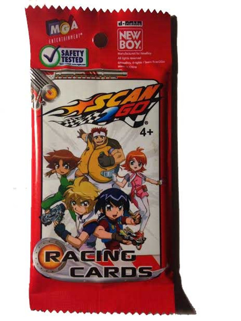 5x Scan2Go Racing Cards Red Pack - Scan 2 Go
