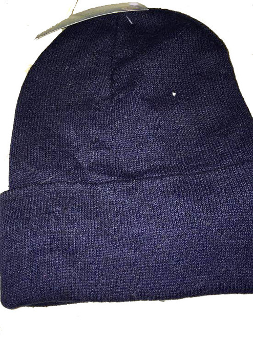 Ladies/Men Unisex Beanie Thermal Fleece Liner with Cuff Blue