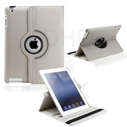 Delton Swivel Folio Case for iPad2/new iPad GRAY