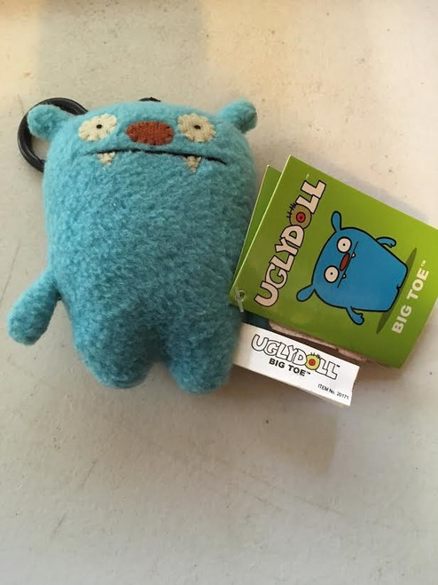 Ugly Doll Big Toe Key Chain- Clip On Groody- Free Shipping