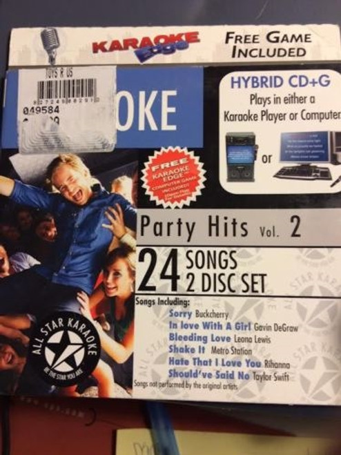 Karaoke Edge Party Hits Volume 2 - 24 Songs 2 Disc Set