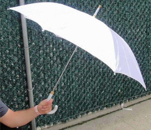 "42"" Silk Automatic Pearly White Bridal Wedding 42"" Umbrellas (open to a full 42"")"