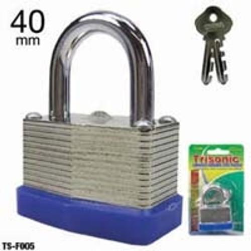 Trisonic Steel Padlock with Two Keys - TS-F007