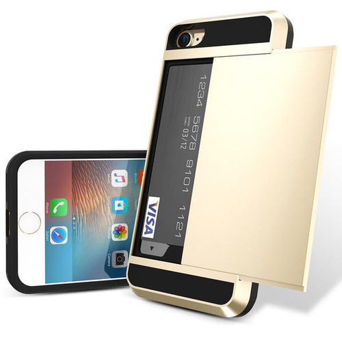 (Choose Color) / Luxury Armor Hidden Slide Compartment Case For iPhone 7/7s Hybrid Dual Layer Wallet