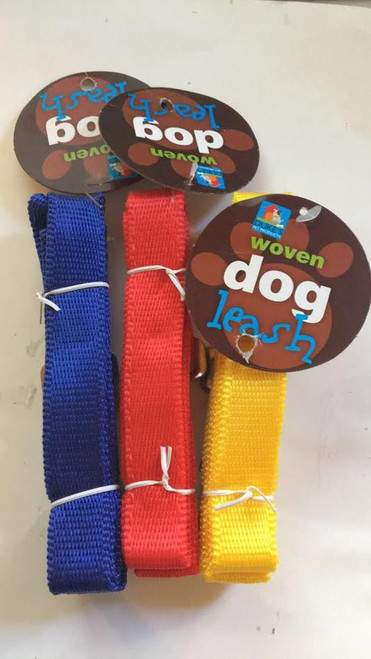 (Choose Color) 4ft  Woven Dog Leash