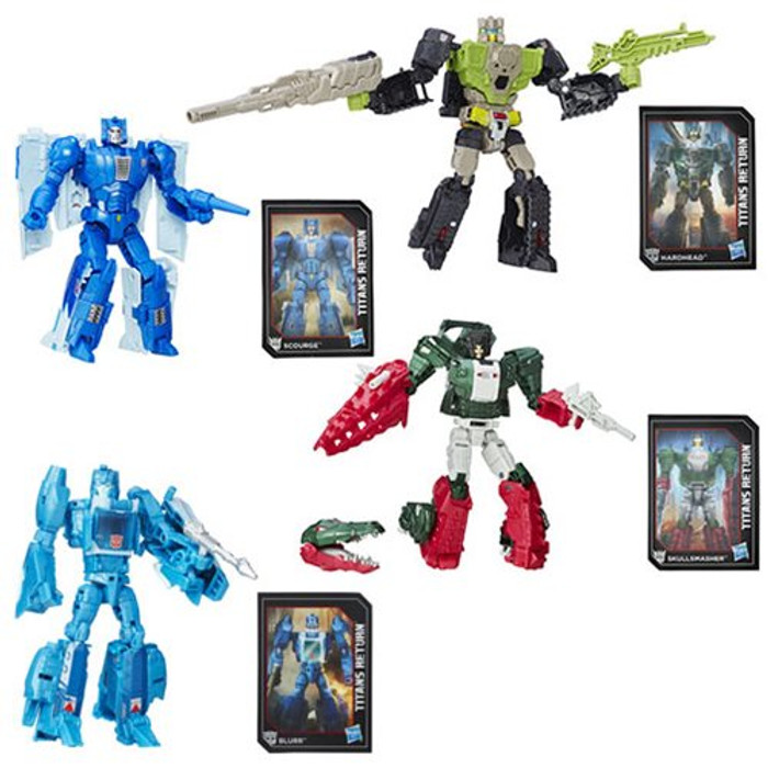 Transformers Generations Titans Return - Deluxe Wave 1 - Set of 4