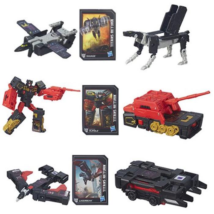 Transformers Generations Titans Return - Legends Class Wave 2 - Set of 3