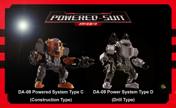 Diaclone Reboot - DA-08 Diaclone Powered-Suit System Set C - Construction Type