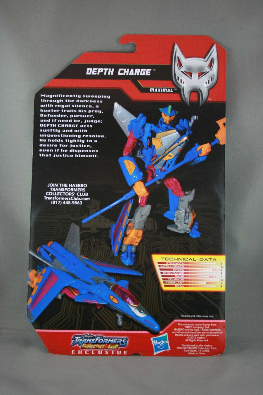 Botcon 2013 - TFCC Exclusive Depth Charge On Card