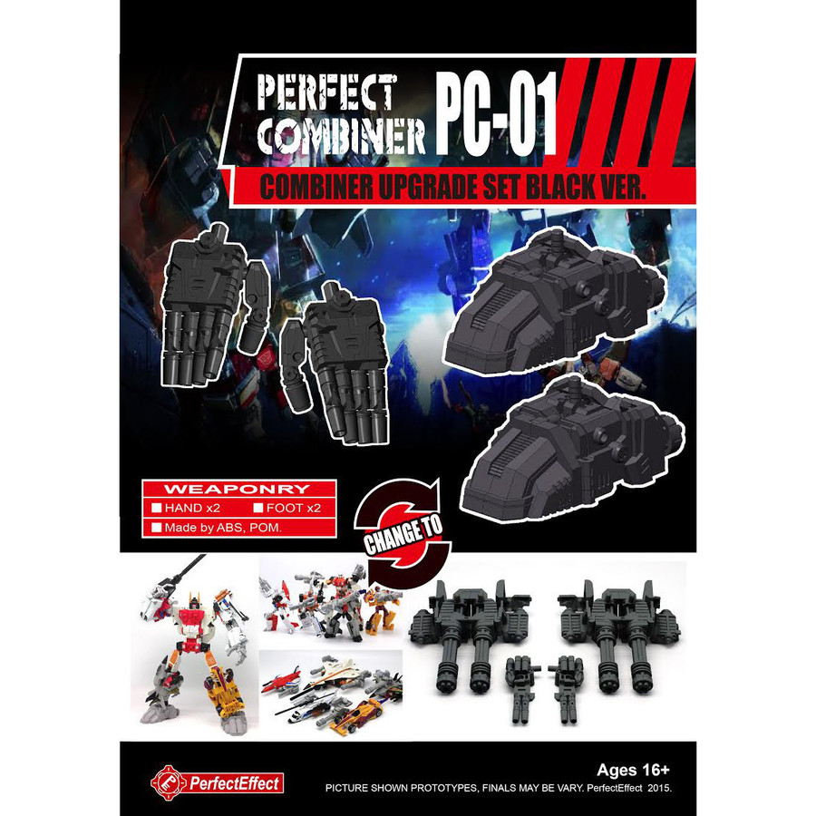 Perfect Effect PC-01 Perfect Combiner Upgrade Set - Black Version (Re-Stock)