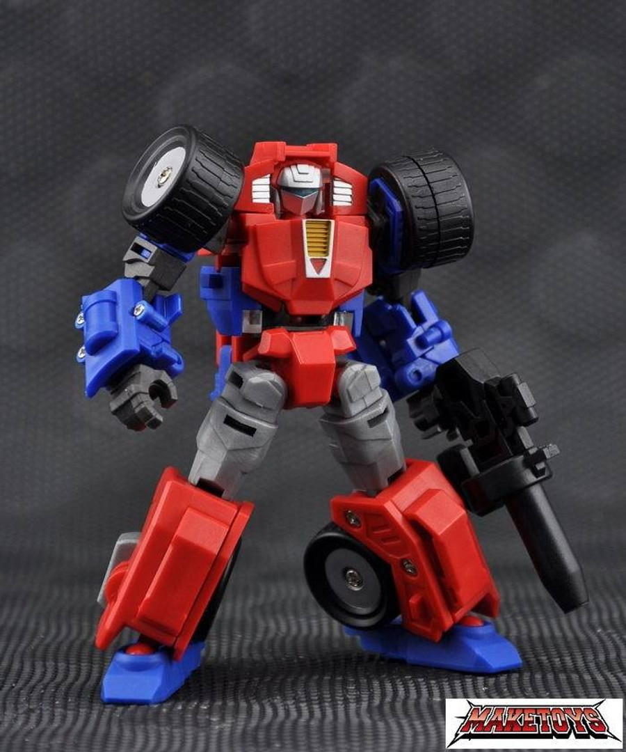 Maketoys - Manga Mech - Trash-Talk and Cogwheel with BONUS My First Blaster