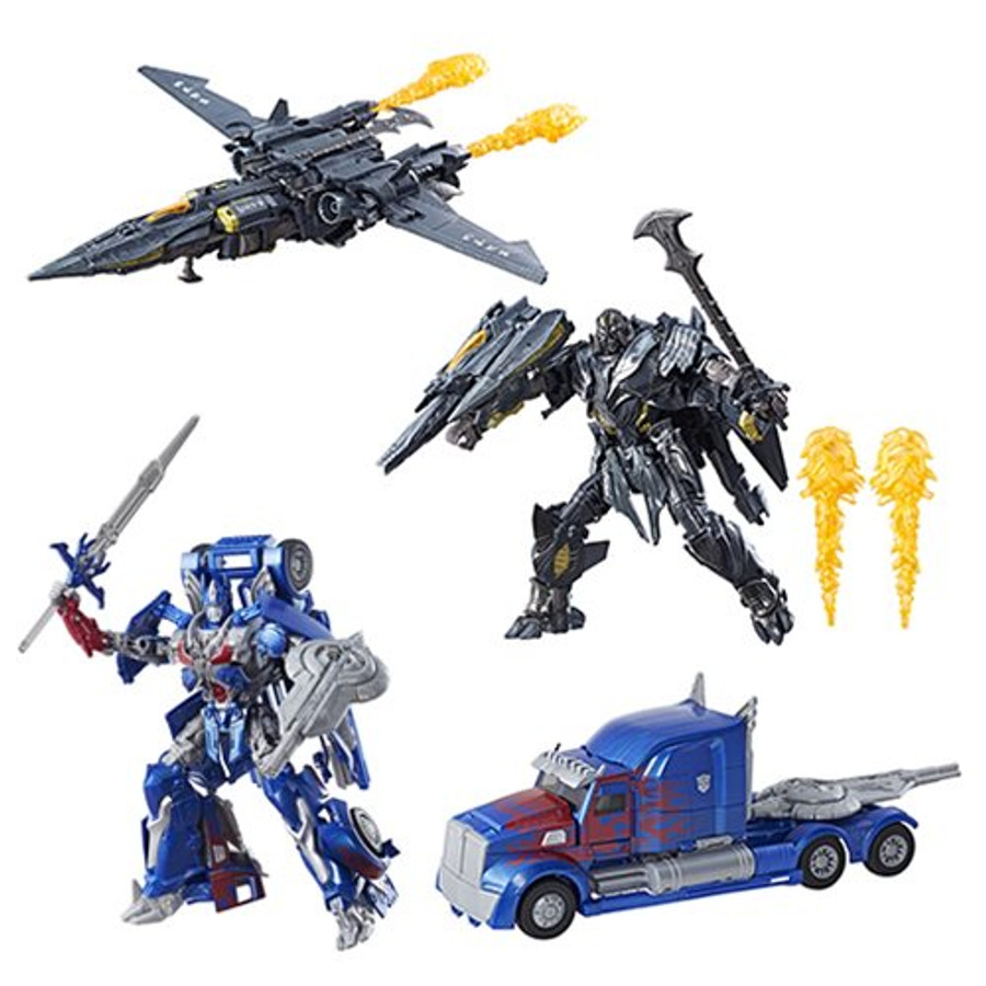 Transformers The Last Knight - Premier Edition Leader Class Optimus Prime and Megatron Set of 2