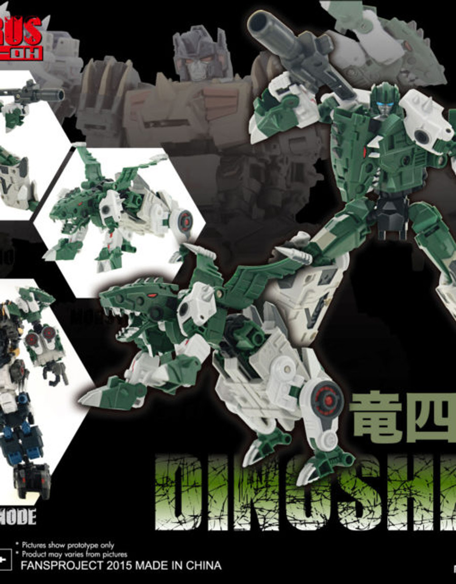 Fansproject - Saurus Ryu-Oh Combiner & Shells Complete Set