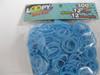 Bag of light sky blue Loopy Bandz