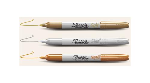 Sharpie Metallic Fine Point Permanent Markers (3 Pack)