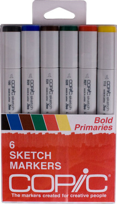 Copic Markers Solid Bold Primaries SBOLDPRI 6 pack