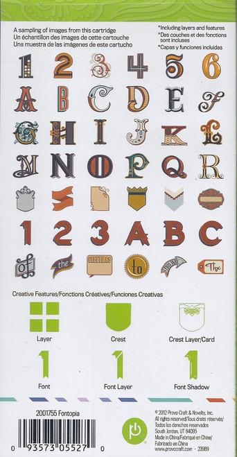 Fontopia designs Cricut Cartridge