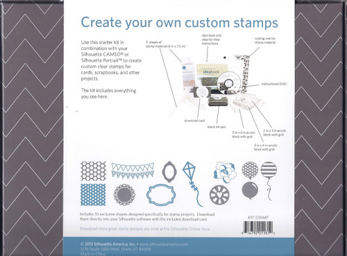 Silhouette stamping starter kit contents list