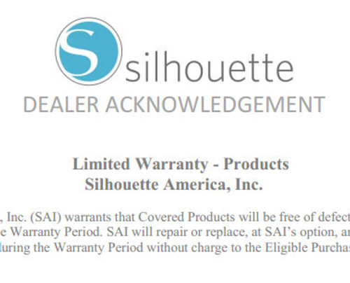 Silhouette Cameo Warranty