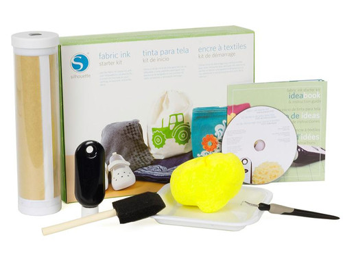 Silhouette Fabric Ink Starter Kit contents