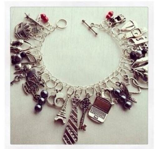 kit charming 50 shades of grey Glam Bracelet