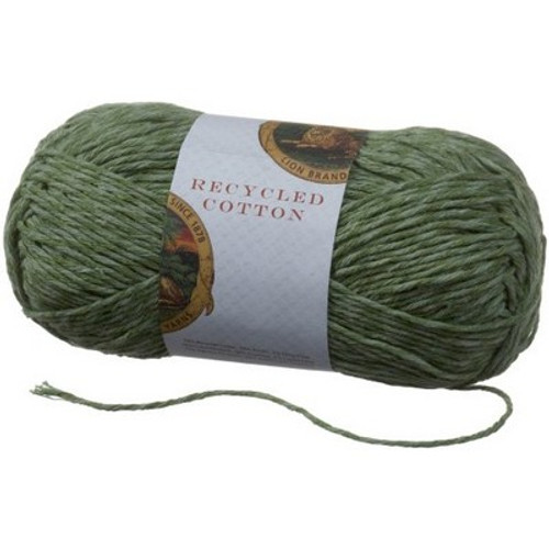 Lion Brand Yarn Recycled Cotton Yarn, Seagrass