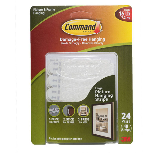 Command Large Picture Hanging Strips - 24 pairs