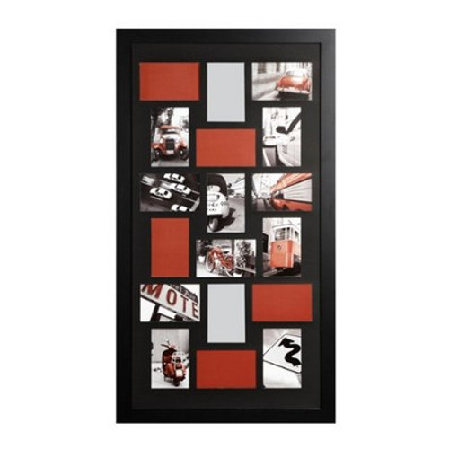 Nexxt PN19436-8 Memoirs Series 18 Picture Oversized Collage Frame, Black