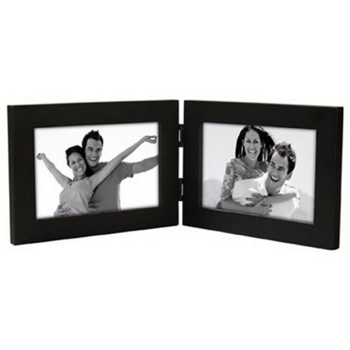 Malden Linear Wood 4x6 Double Black Picture Frame