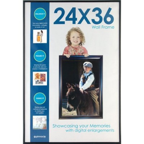 Gallery Solutions Black Backloader Poster Frame, 24 by 36-Inch
