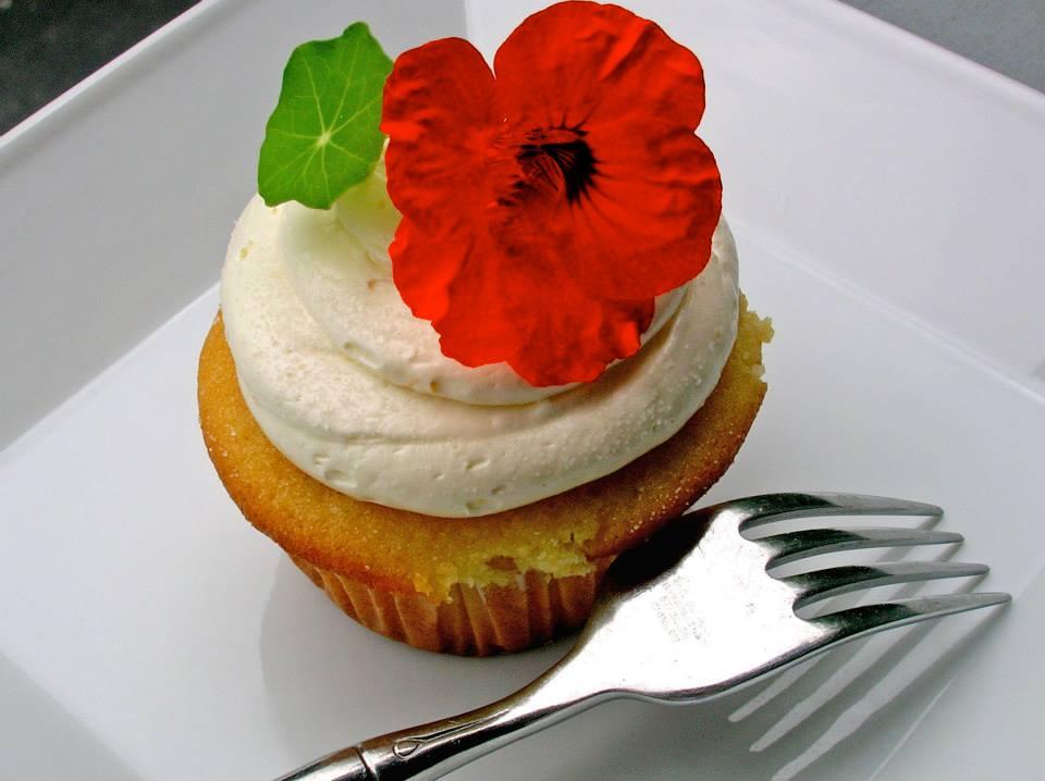 Nasturtium Cupcake
