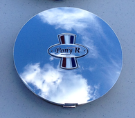 This is a chrome Pony R Parts, Pony R Wheel cap.  Fits  Pony R wheels, and OEM Mustang pony wheels.  Excellent fit and finish!