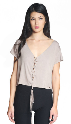 Greta Lace-Up Top