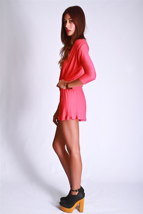 Citrus Ruffled Romper