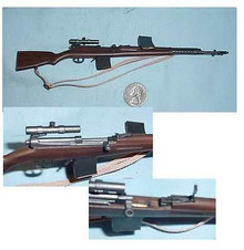 Miniature 1/6 Scale WW2 German SVT-40 Automatic Rifle with Telescopic Sight
