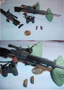 Miniature 1/6th ScalePSG1 Sniper Rifle & More