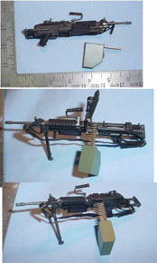 Miniature 1/6th SAW M249 Shorty Paratrooper version