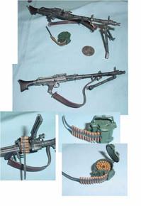 Miniature 1/6 WW2 German MG34 Machine Gun